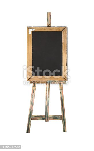671393252istockphoto Easel with black board isolated 1155217515