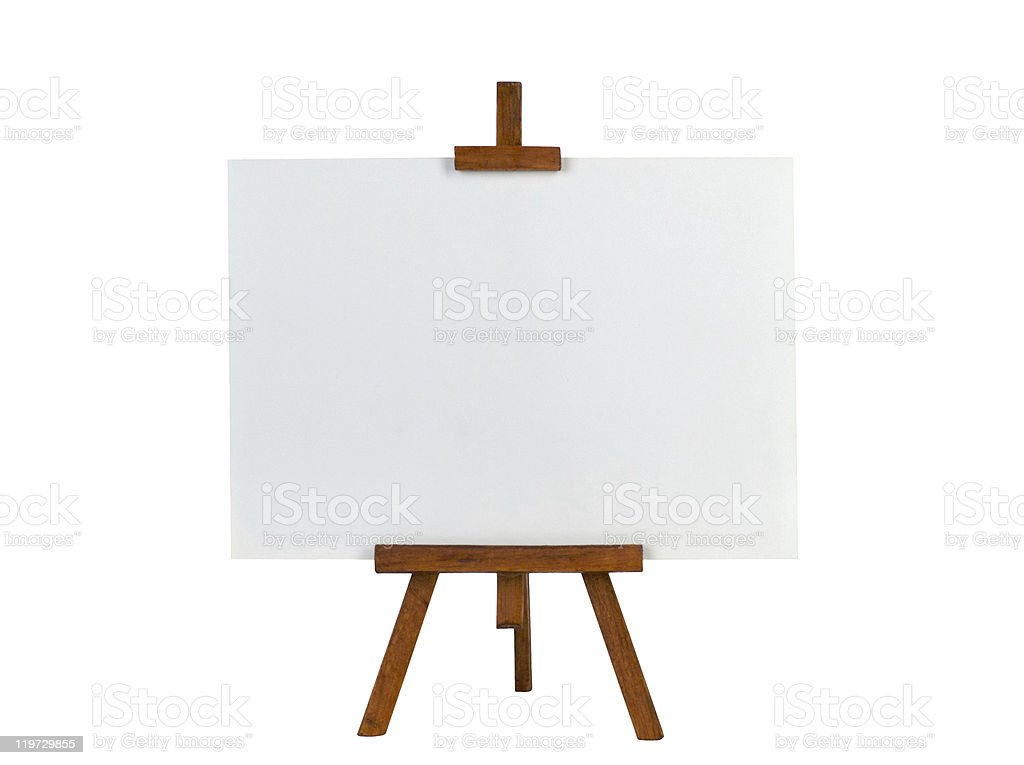 Easel with blank canvas royalty-free stock photo