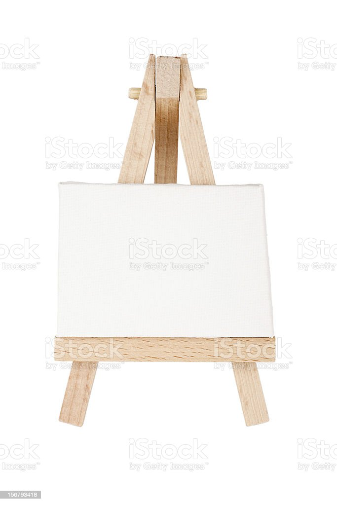 Easel with canvas royalty-free stock photo