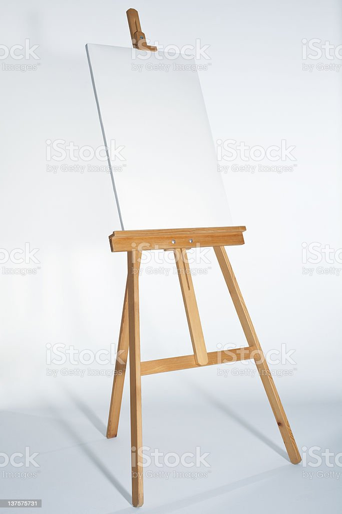 Easel With Vertical Board royalty-free stock photo