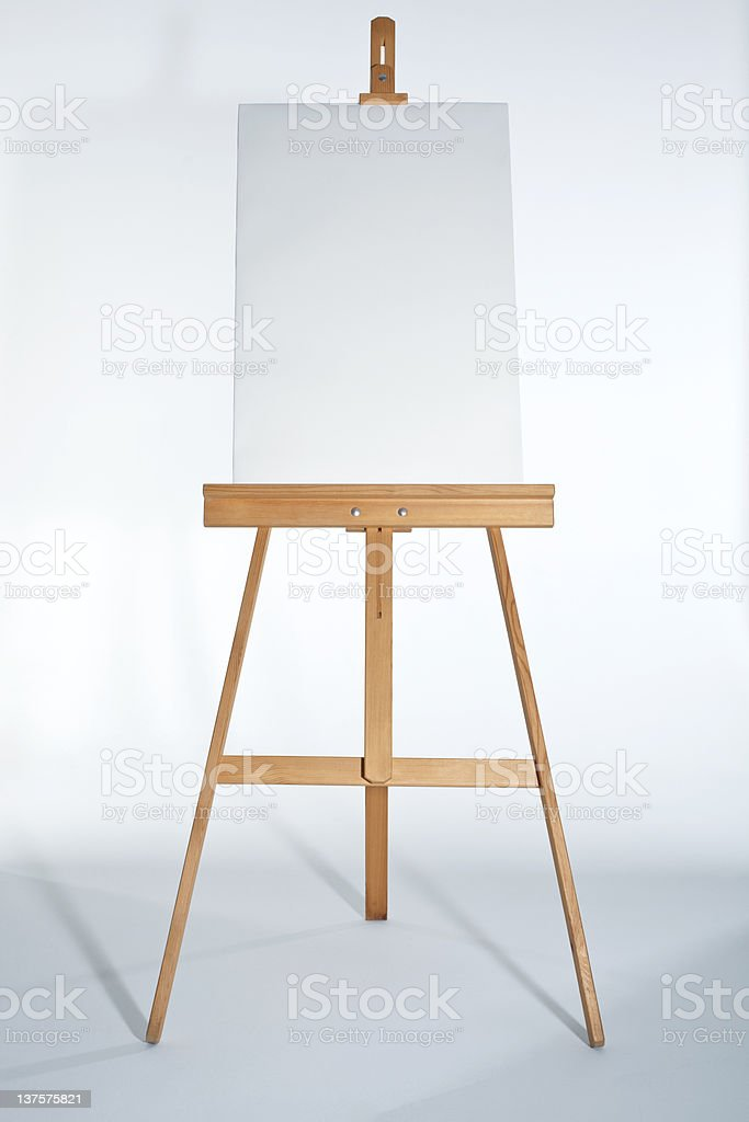 Easel With Vertical Board stock photo