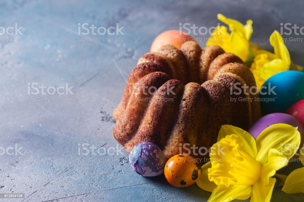 Easer cake with eggs stock photo