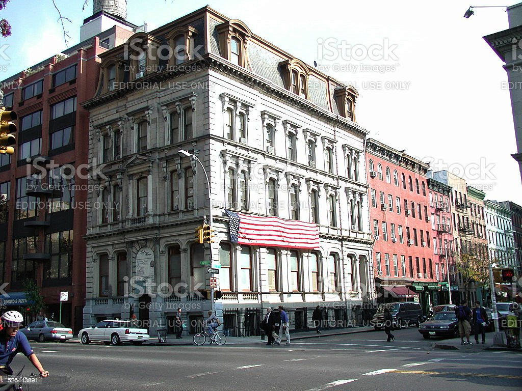 East 7th Street Copper Square East Village NYC 2001 stock photo