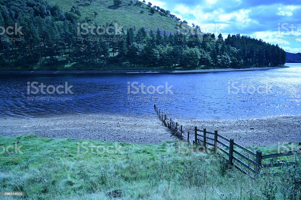 East across Ladybower Reservoir Lizenzfreies stock-foto
