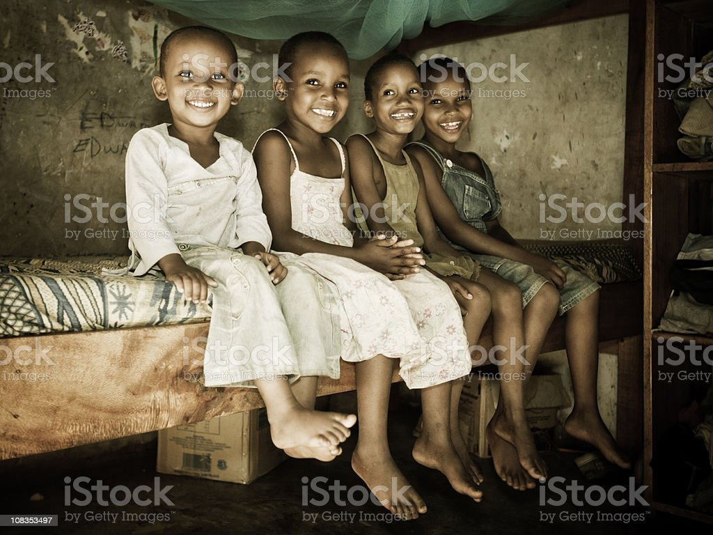 East African Children in an Orphanage stock photo