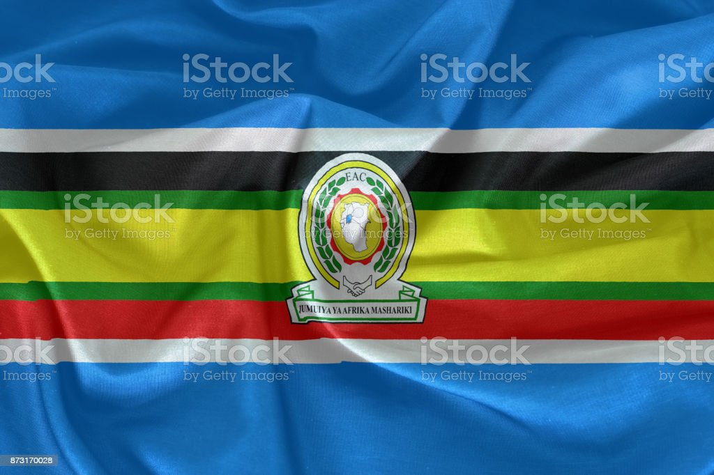 East African Community Flag stock photo