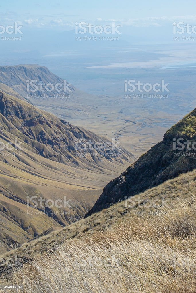 East African Rift Valley with Lake Natron stock photo