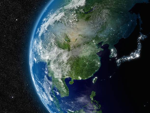 東南アジアのスペース - 地球 日本 ストックフォトと画像