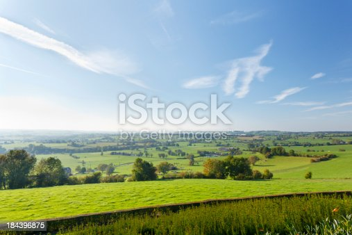 Green hill landscape in the east of Belgium (province Liege) near Aubel.