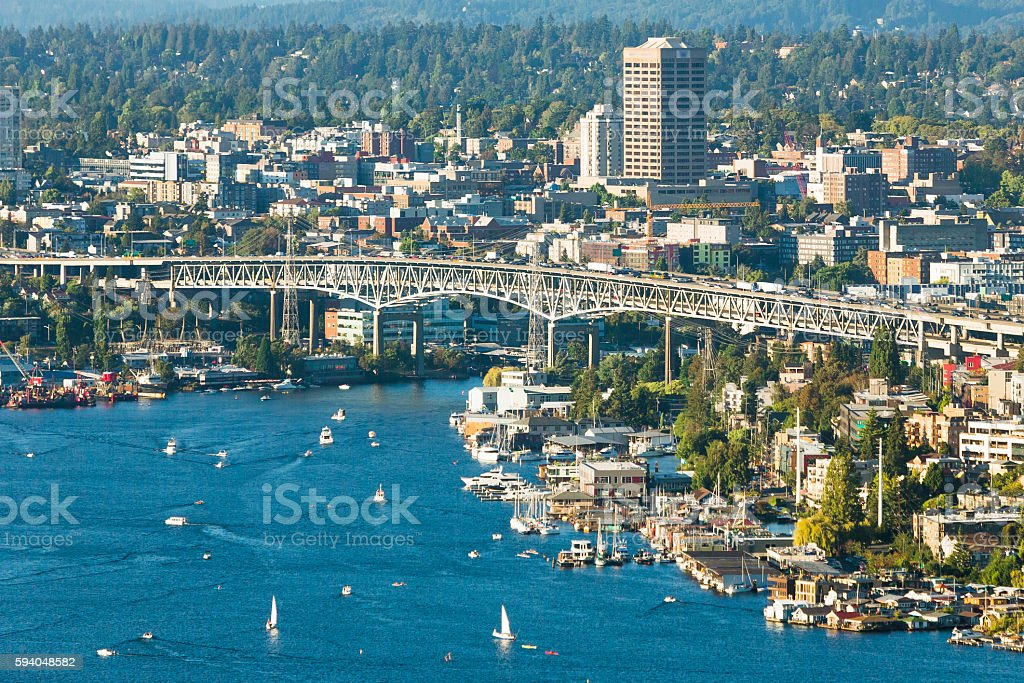 East Canal Bridge in Seattle stock photo