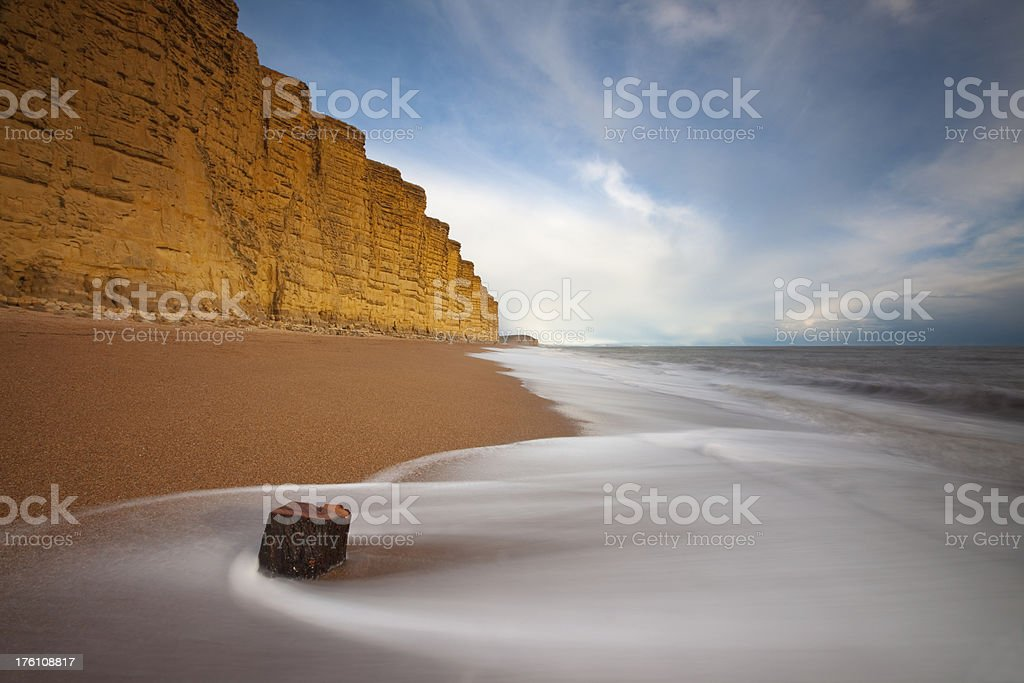 East Cliff, West Bay stock photo