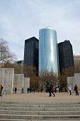 istock East Coast Memorial visitors, Manhattan cityscape, Battery Park, NYC 458983681