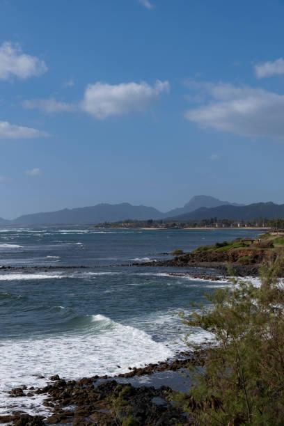 East Coastline of Kauai stock photo