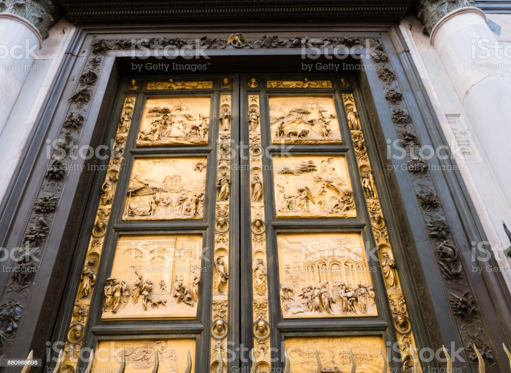 East doors of Baptistery in Florence Italy royalty-free stock photo & East Doors Of Baptistery In Florence Italy Stock Photo \u0026 More ...