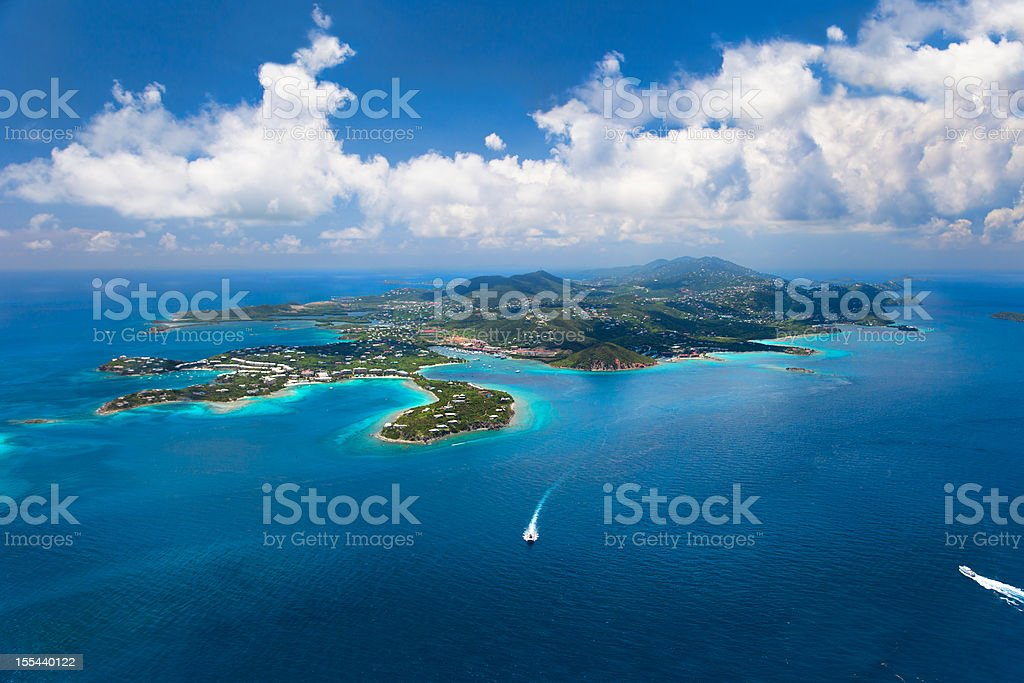 East End of St. Thomas in US Virgin Islands stock photo