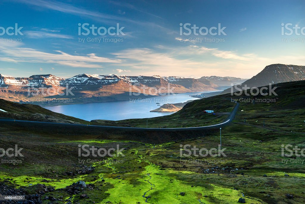 East Fjords. stock photo