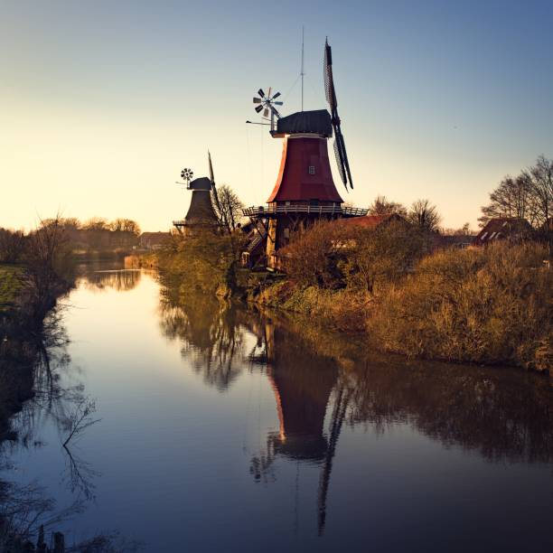 East Frisian mills East Frisian millsEast Frisian mills lower saxony stock pictures, royalty-free photos & images