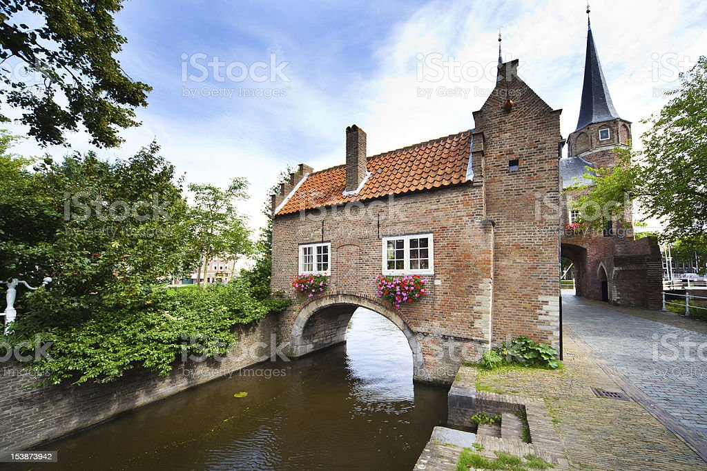 East Gate in Delft - Holland stock photo