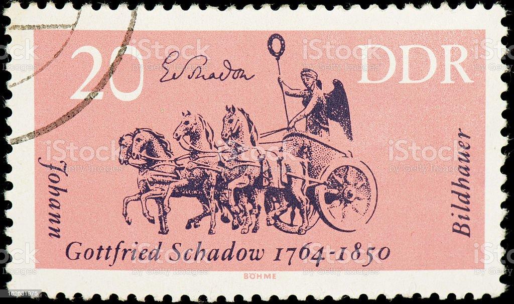 East German postage stamp stock photo