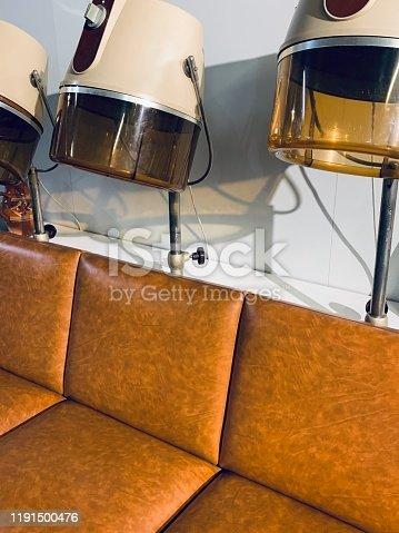 East german vintage: chairs in the barbershop