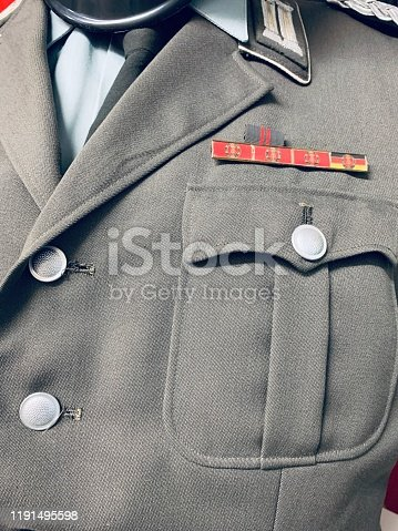East german vintage: uniform close up