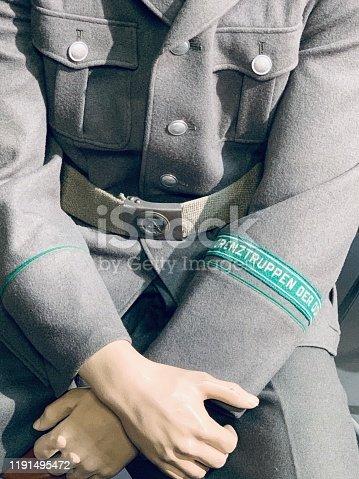 East german vintage: uniform of the border troops
