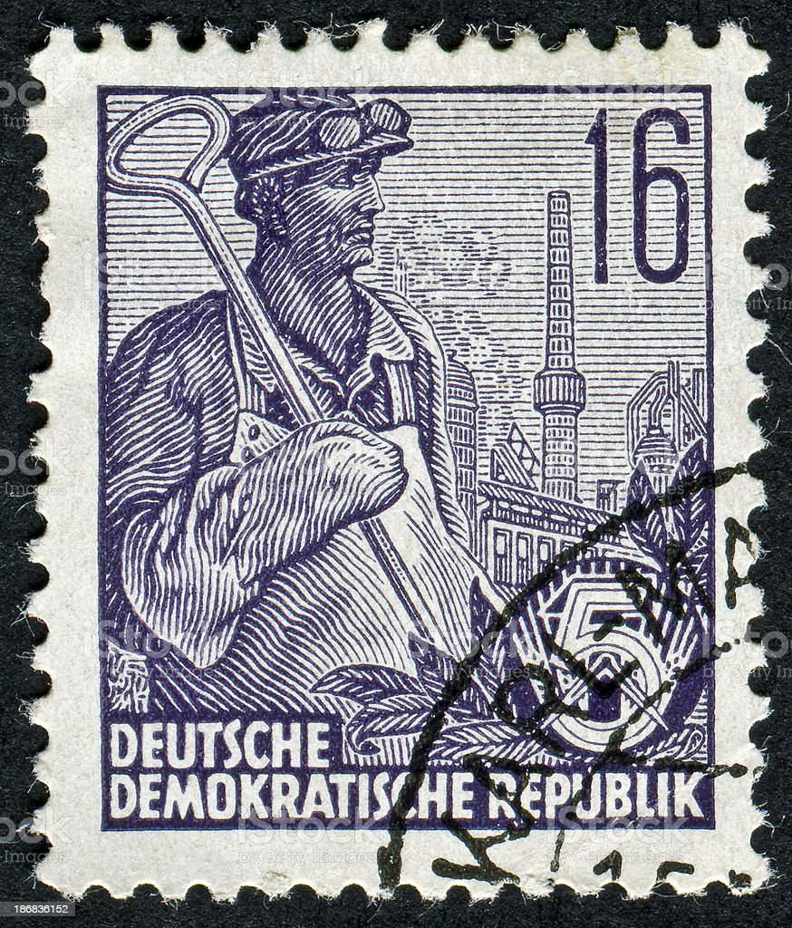 East Germany Stamp royalty-free stock photo