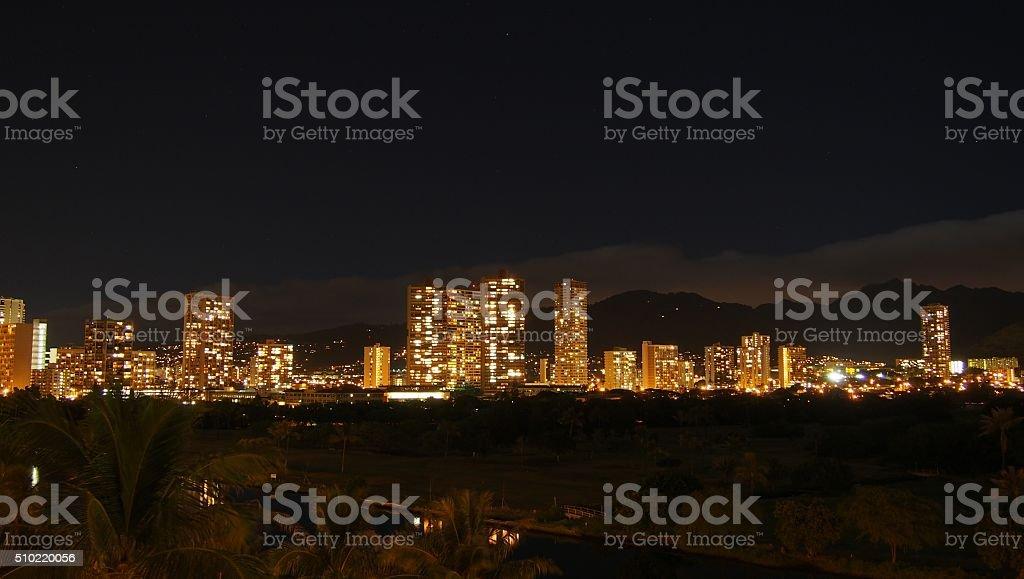 East Honolulu Lights stock photo