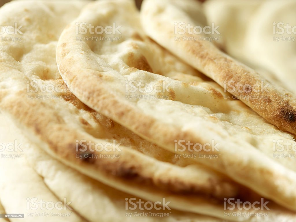 East Indian Naan Bread royalty-free stock photo