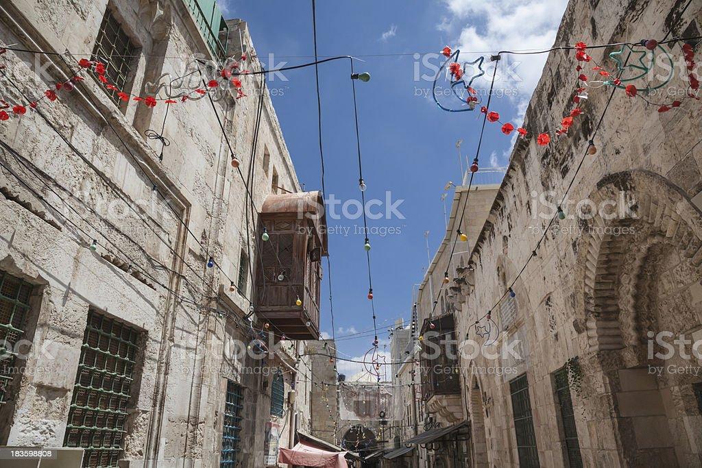 East Jerusalem, Muslim Quarter royalty-free stock photo