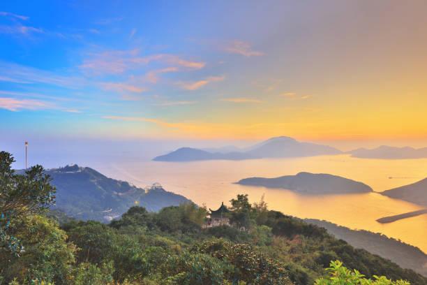 在日落時東博寮海峽圖像檔