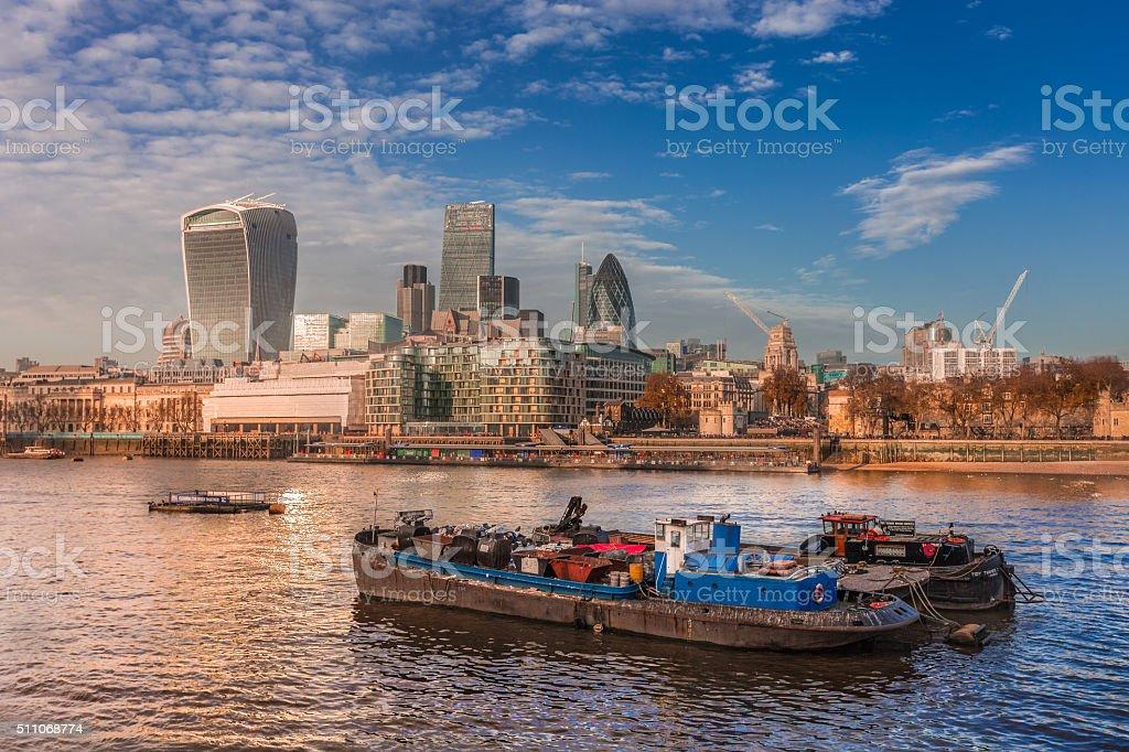 East London cityscape stock photo