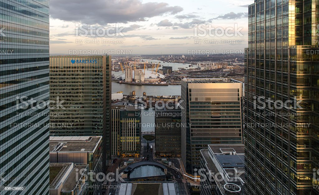 East London cityscape stock photo