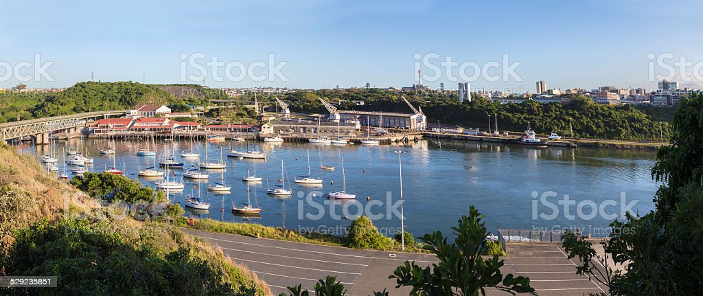 East London harbour at Buffalo river stock photo