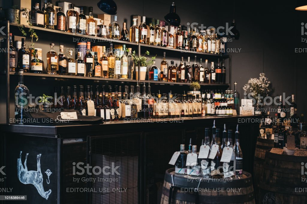 East London Liquor Company stand at Borough Market, one of the...