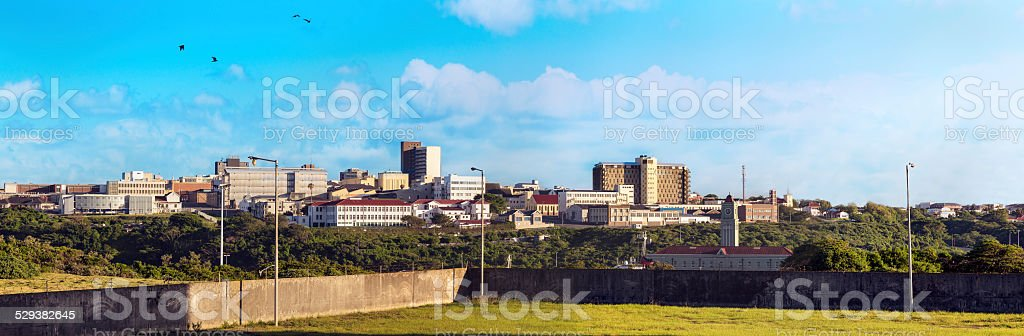 East London panorama, South Africa stock photo