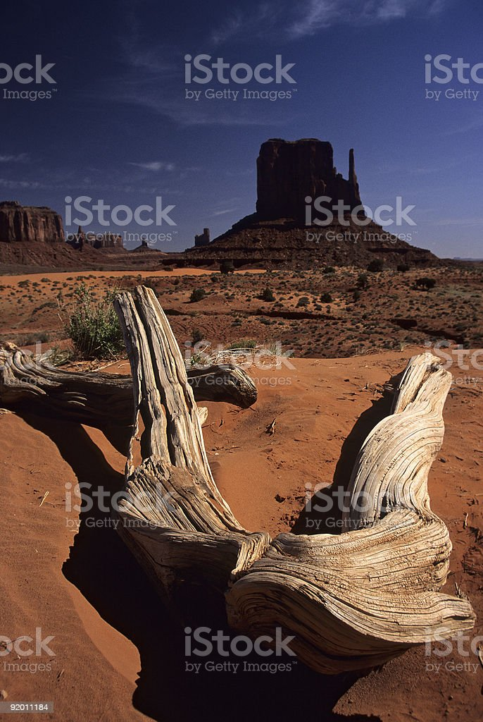 East Mitten Butte of Monument Valley royalty-free stock photo