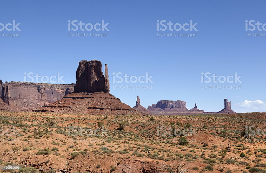 East Mitten, Monument Valley, Southwest USA. royalty-free stock photo