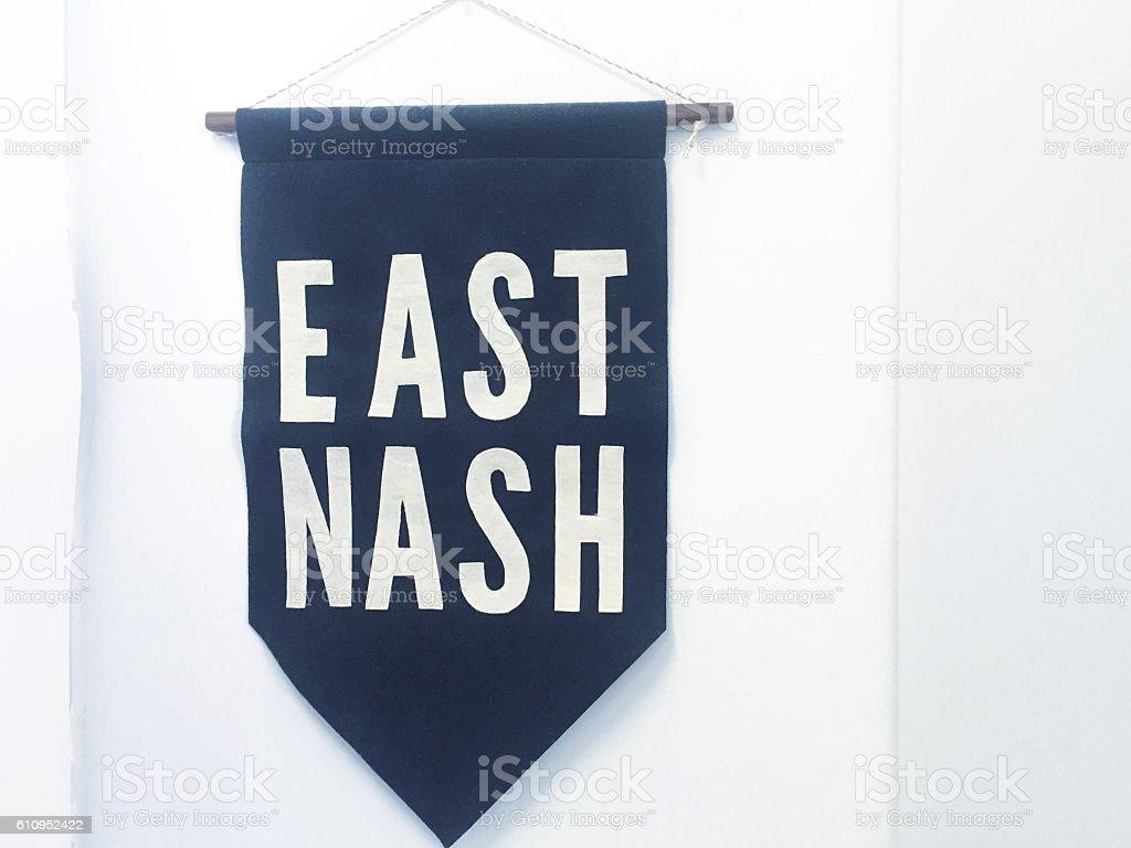 East Nash Nashville Pennant stock photo