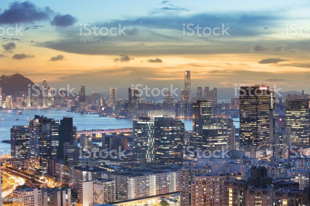 東部的黃昏香港九龍觀圖像檔