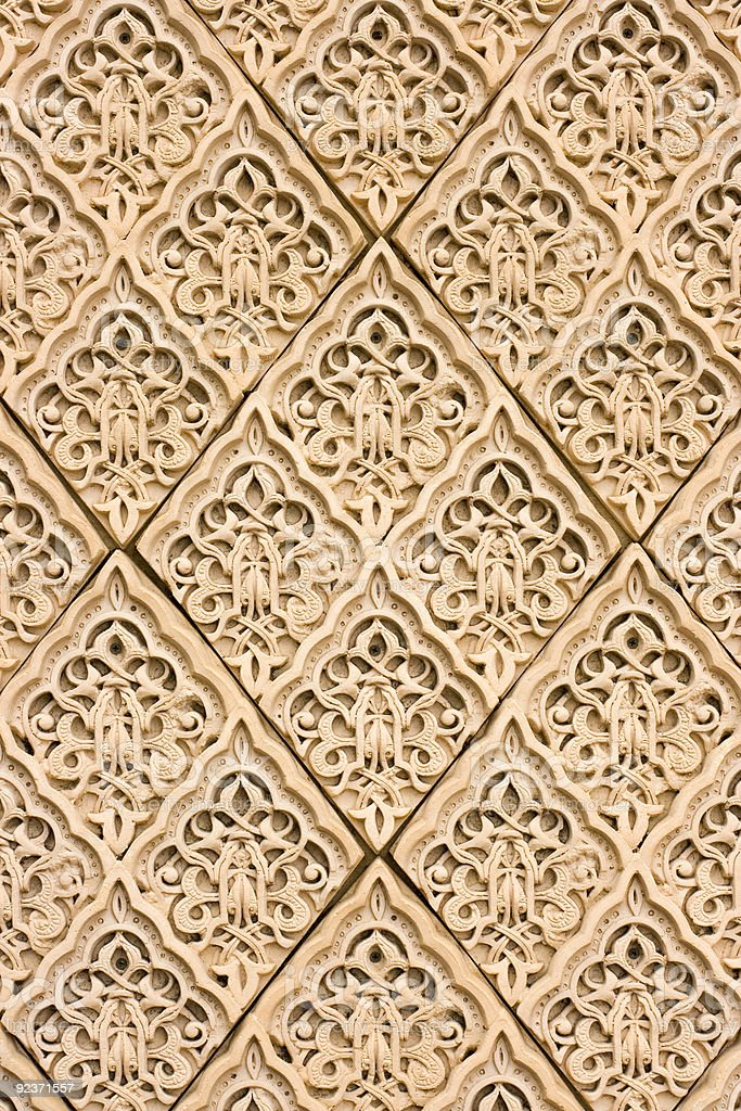 East patterns on a wall royalty-free stock photo