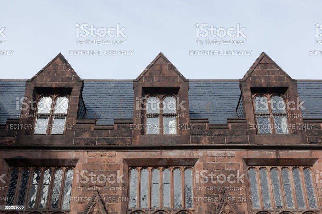 East Pyne Hall at Princeton University stock photo
