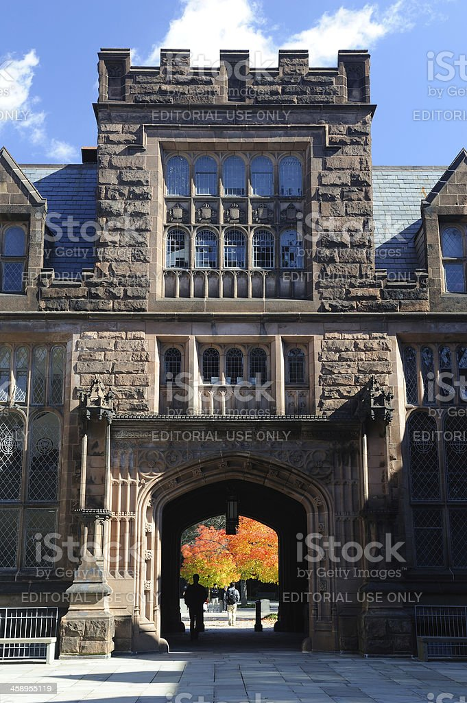 East Pyne Hall in Princeton University stock photo