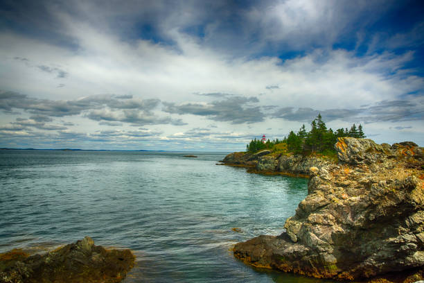 East Quoddy Light House, New Brunswick, Canada stock photo