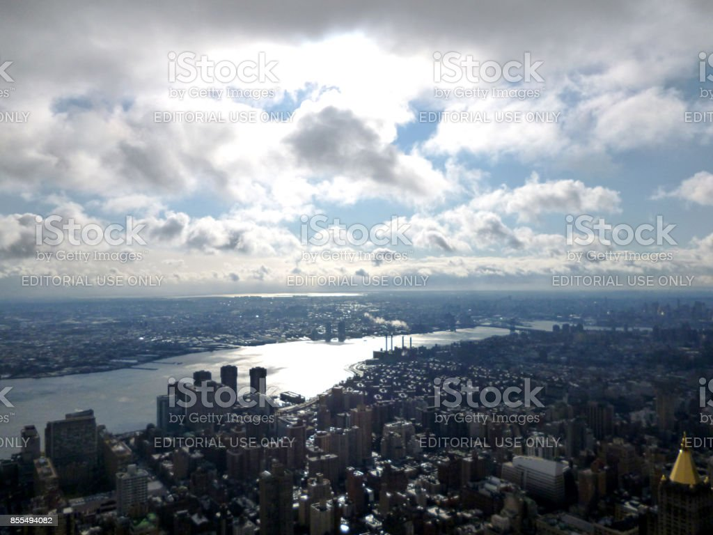 East river lower side view 2 stock photo