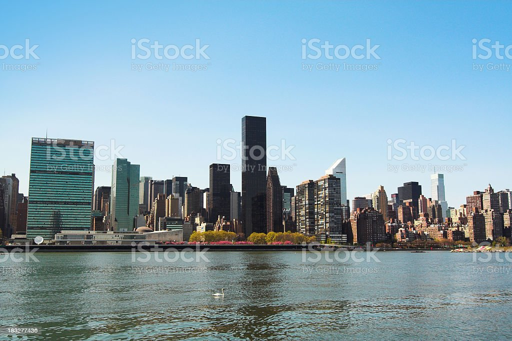 East River NYC Skyline royalty-free stock photo