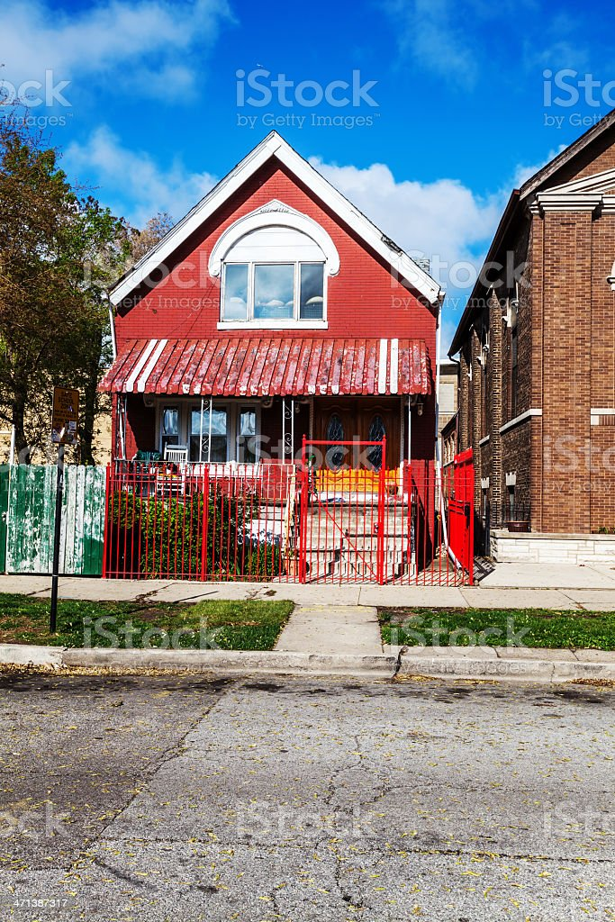 East Side Chicago Victorian House royalty-free stock photo