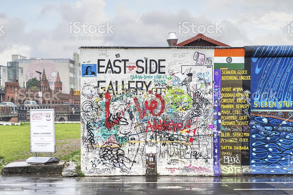 East Side Gallery, Berlin stock photo