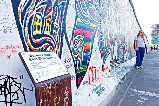 Lado este de fotos en Berlín, Alemania - foto de stock
