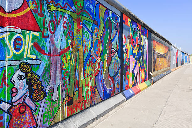 east side gallery wall of berlin germany - aluxum stock pictures, royalty-free photos & images